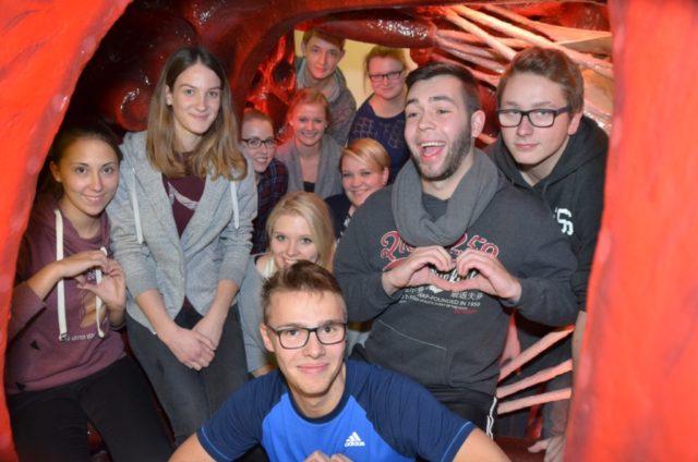 Die Teilnehmer der Herzwoche aus der Bildungsakademie hatten auch sichtlich Spaß